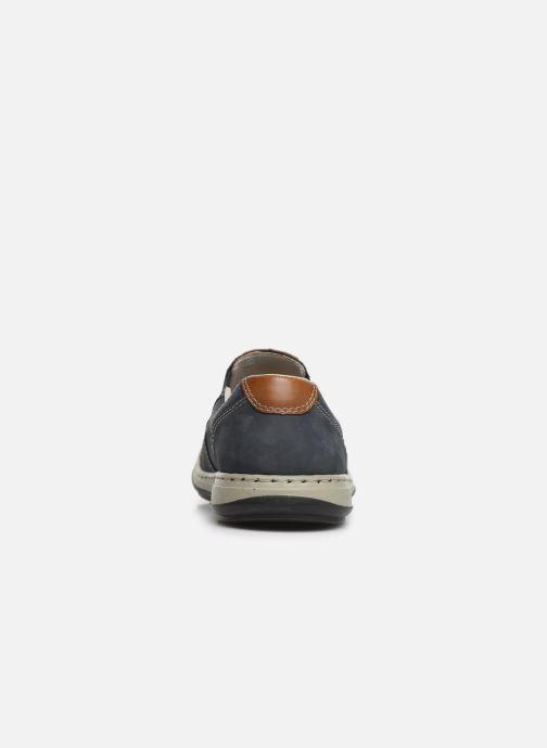 Loafers Rieker Aubin 17356 Blå Se fra højre