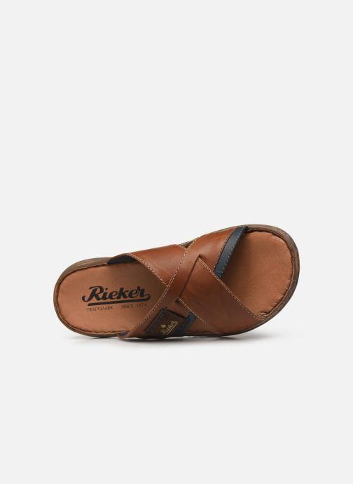 Sandales et nu-pieds Rieker Kems 22099 Marron vue gauche