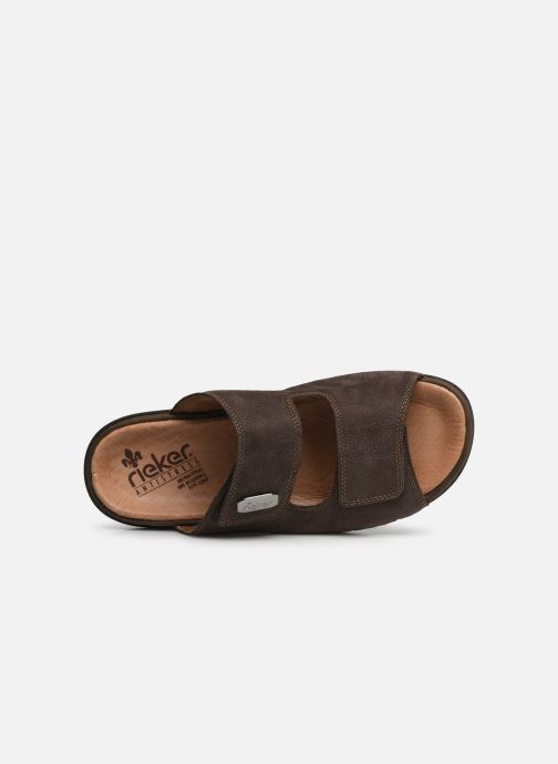 Sandales et nu-pieds Rieker Cece Marron vue gauche