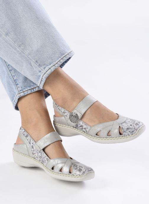 Sandales et nu-pieds Rieker Gaia Argent vue bas / vue portée sac