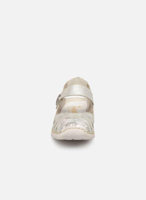 Sandales et nu-pieds Rieker Gaia Argent vue portées chaussures