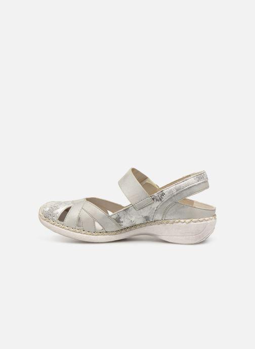 Sandales et nu-pieds Rieker Gaia Argent vue face