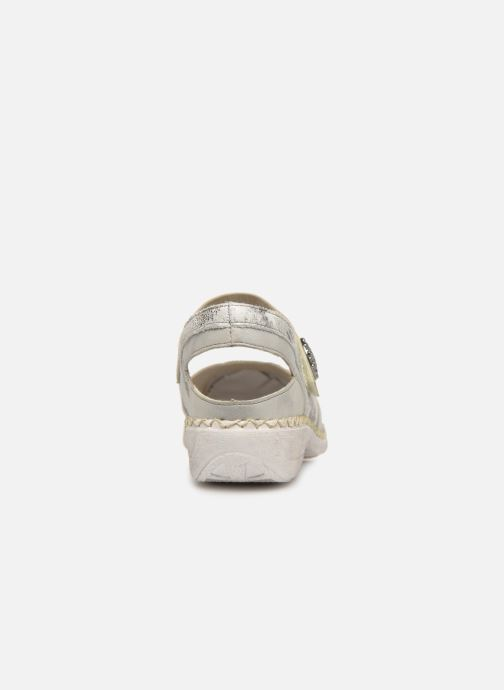 Sandals Rieker Gaia 413V2 Silver view from the right