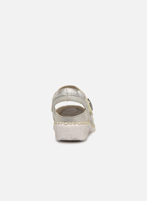 Sandales et nu-pieds Rieker Gaia Argent vue droite