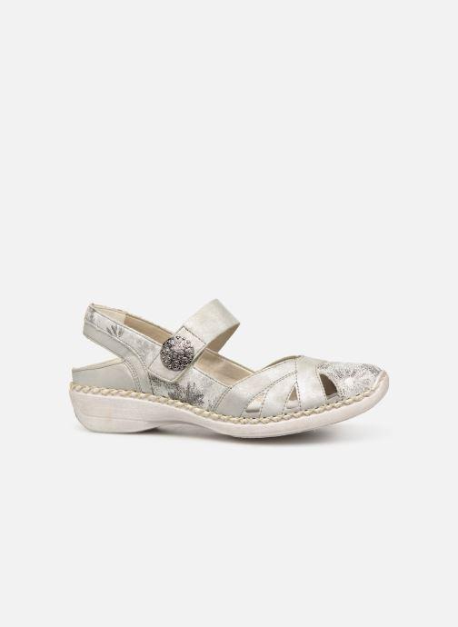 Sandales et nu-pieds Rieker Gaia Argent vue derrière