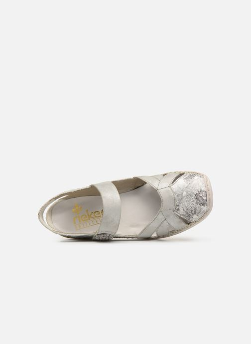 Sandals Rieker Gaia 413V2 Silver view from the left