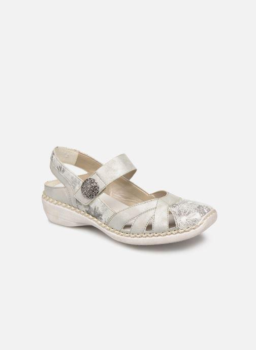 Sandales et nu-pieds Rieker Gaia Argent vue détail/paire