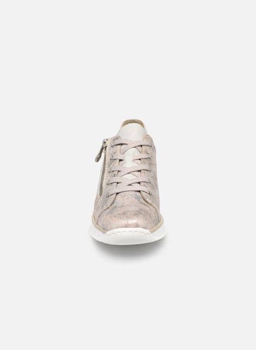 Baskets Rieker Liloa 53715 Rose vue portées chaussures