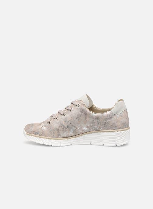 Sneakers Rieker Liloa Pink se forfra