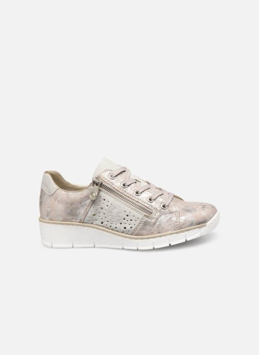 Trainers Rieker Liloa 53715 Pink back view