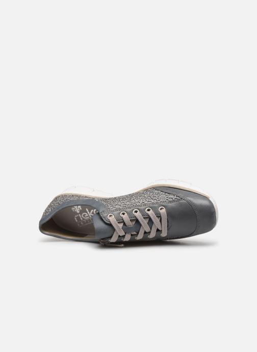 Sneakers Rieker Ryne 537M1 Blauw links