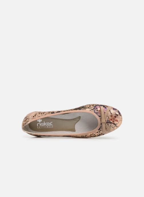 Ballet pumps Rieker Idyl L8356 Pink view from the left