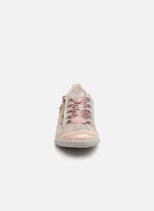 Baskets Rieker Eneka M3036 Rose vue portées chaussures