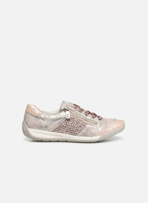 Trainers Rieker Eneka M3036 Pink back view
