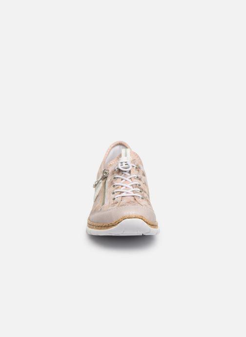 Sneaker Rieker Ocelia N4263 rosa schuhe getragen
