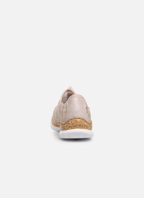 Sneaker Rieker Ocelia N4263 rosa ansicht von rechts