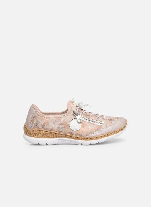 Sneaker Rieker Ocelia N4263 rosa ansicht von hinten