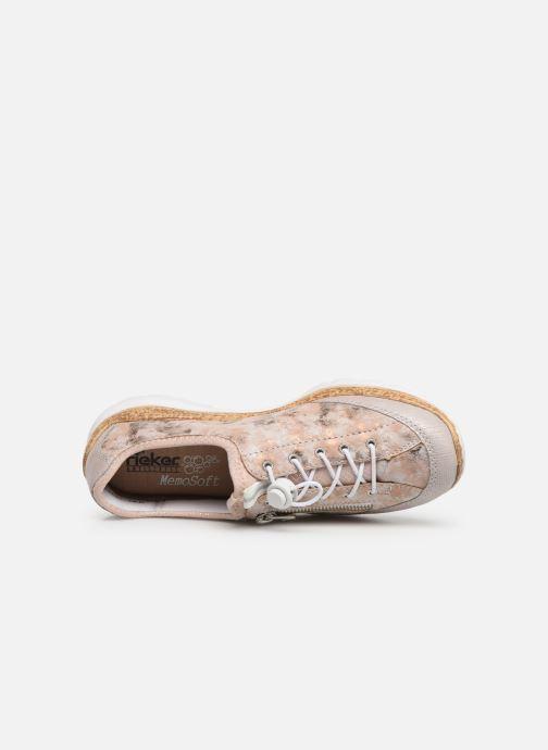 Sneaker Rieker Ocelia N4263 rosa ansicht von links