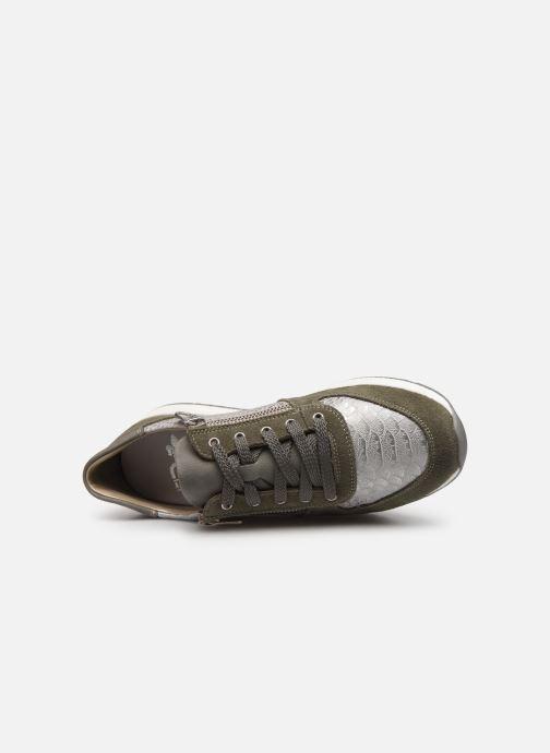 Baskets Rieker Vandea N7022 Vert vue gauche