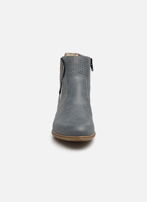 Bottines et boots Rieker Leria Y0757 Bleu vue portées chaussures