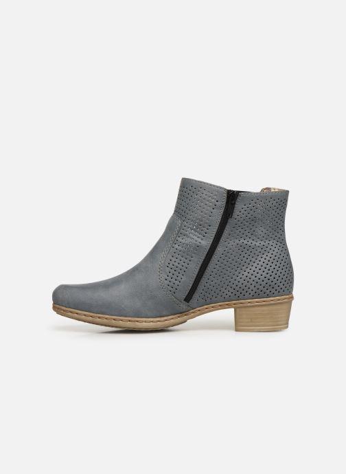 Ankle boots Rieker Leria Y0757 Blue front view