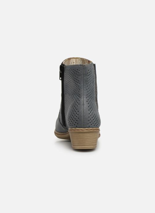 Ankle boots Rieker Leria Y0757 Blue view from the right