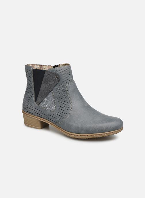 Bottines et boots Rieker Leria Y0757 Bleu vue détail/paire