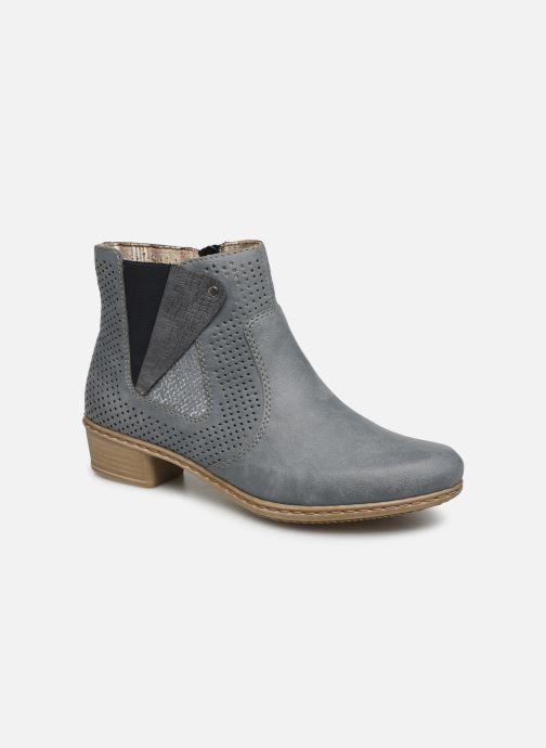 Ankle boots Rieker Leria Y0757 Blue detailed view/ Pair view