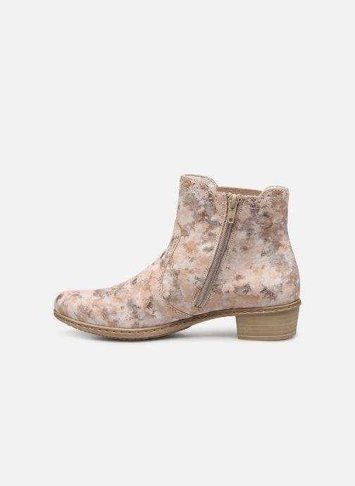 Ankle boots Rieker Gabie Y0771 Pink front view