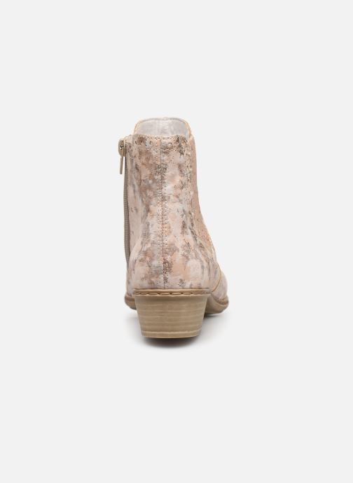 Ankle boots Rieker Gabie Y0771 Pink view from the right