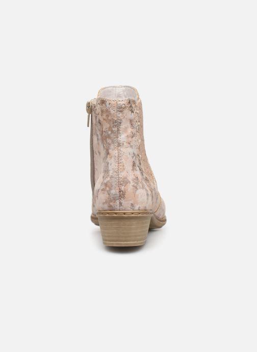 Ankelstøvler Rieker Gabie Y0771 Pink Se fra højre
