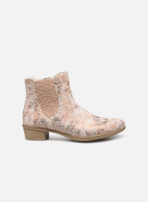 Ankle boots Rieker Gabie Y0771 Pink back view