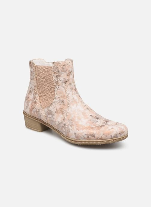 Ankle boots Rieker Gabie Y0771 Pink detailed view/ Pair view