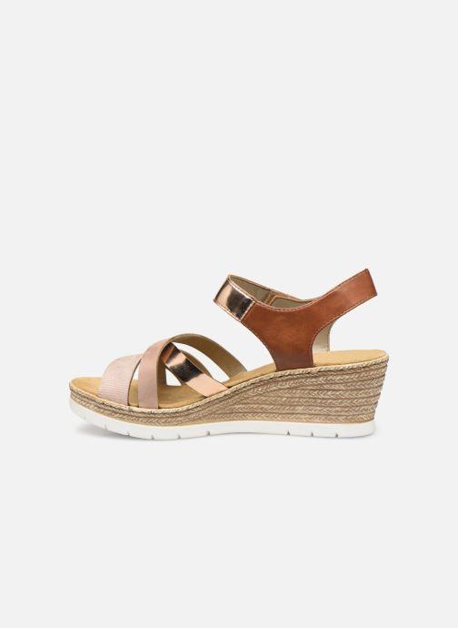 Sandales et nu-pieds Rieker Nawa 61900 Or et bronze vue face