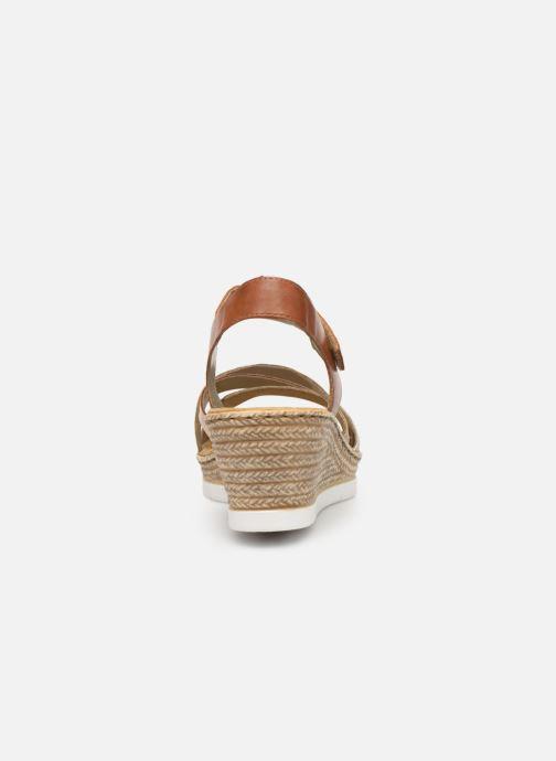 Sandales et nu-pieds Rieker Nawa 61900 Or et bronze vue droite