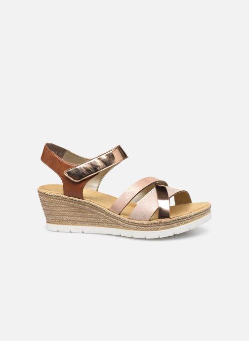 Sandales et nu-pieds Rieker Nawa 61900 Or et bronze vue derrière