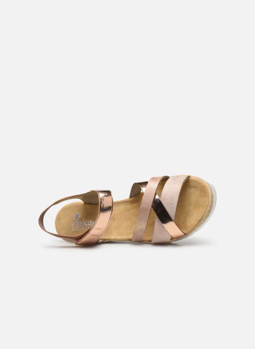Sandales et nu-pieds Rieker Nawa 61900 Or et bronze vue gauche