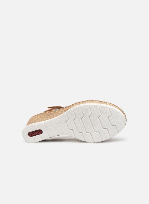 Sandales et nu-pieds Rieker Nawa 61900 Or et bronze vue haut