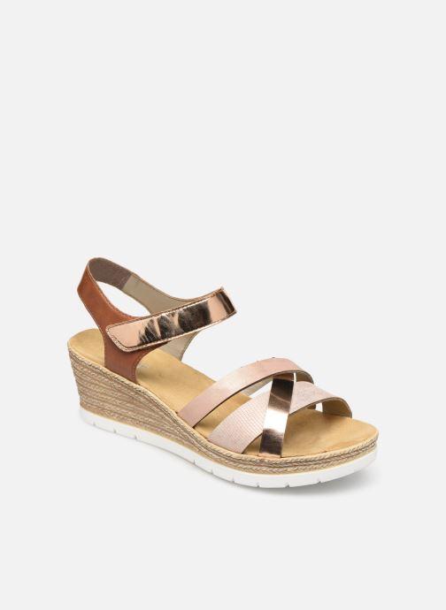 Sandales et nu-pieds Rieker Nawa 61900 Or et bronze vue détail/paire