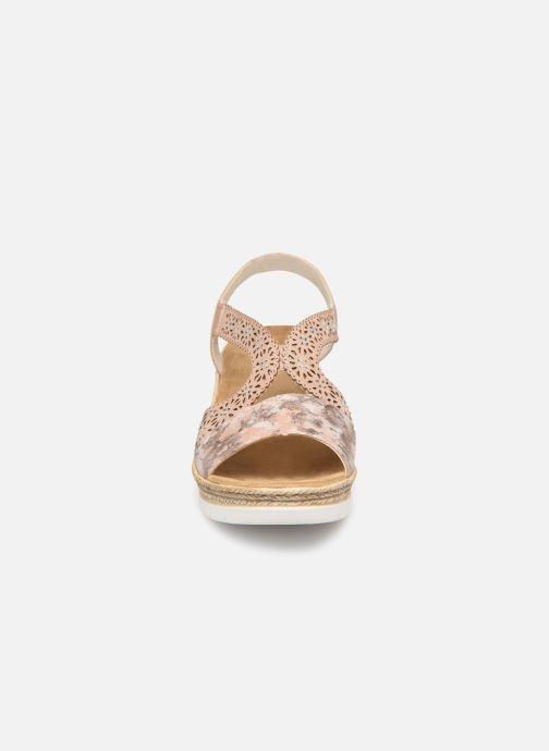 Sandals Rieker Edna 61916 Pink model view