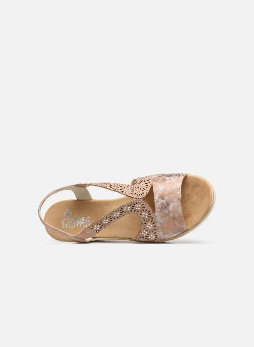 Sandals Rieker Edna 61916 Pink view from the left