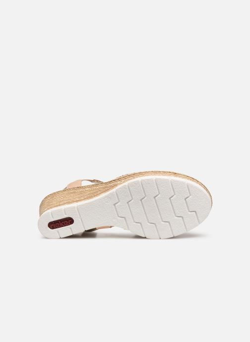 Sandals Rieker Edna 61916 Pink view from above