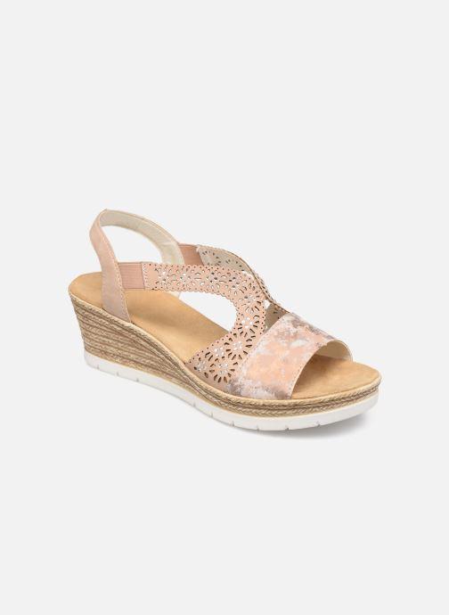 Sandales et nu-pieds Rieker Edna Rose vue détail/paire