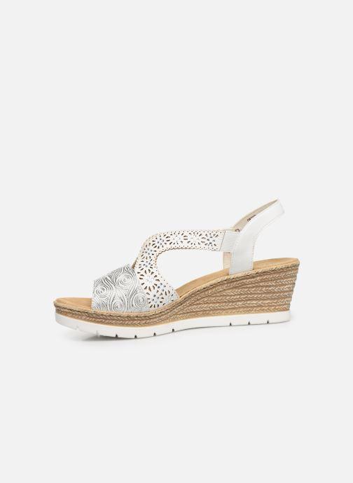 Sandales et nu-pieds Rieker Edna 61916 Blanc vue face