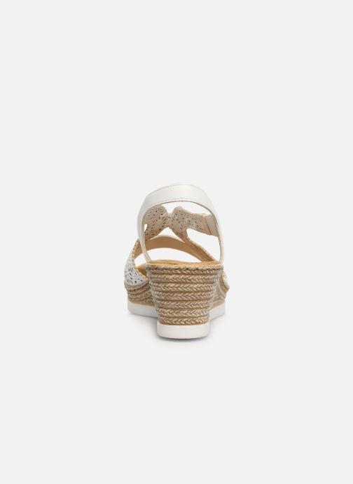 Sandales et nu-pieds Rieker Edna Blanc vue droite