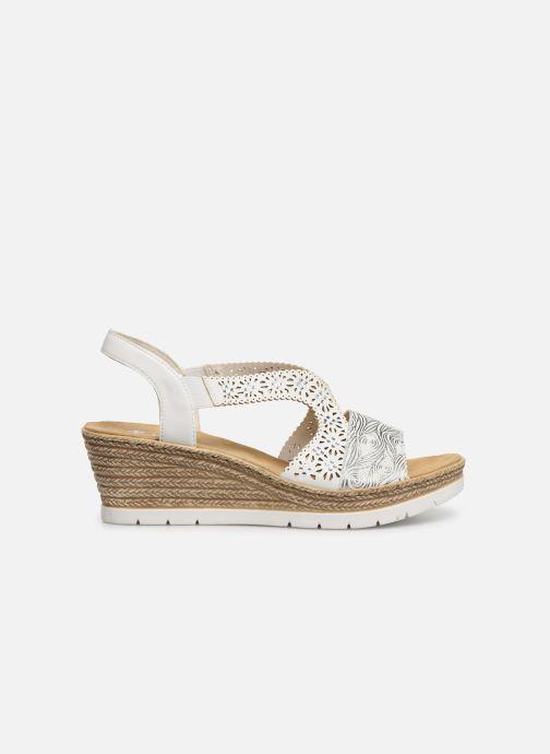 Sandales et nu-pieds Rieker Edna Blanc vue derrière