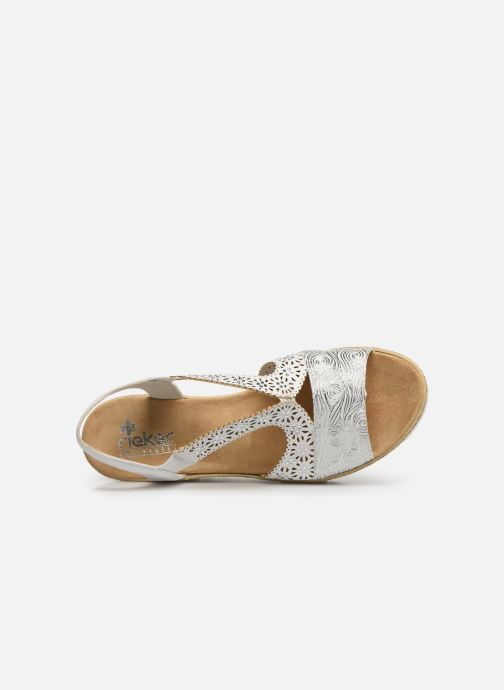 Sandals Rieker Edna 61916 White view from the left