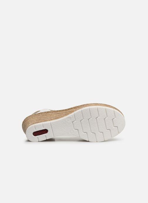 Sandales et nu-pieds Rieker Edna Blanc vue haut
