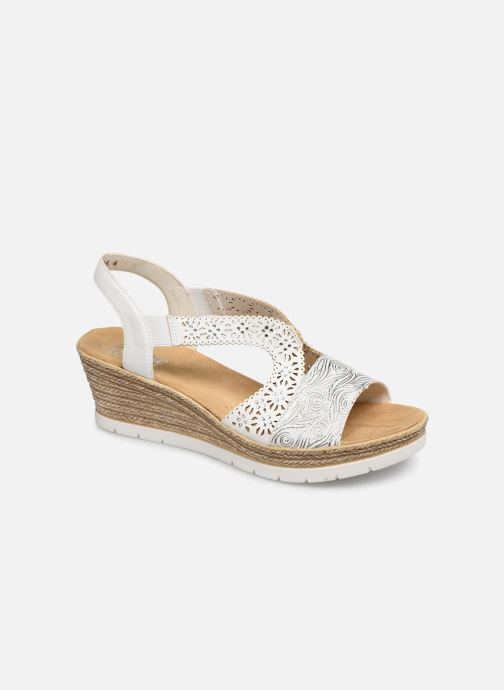 Sandals Rieker Edna 61916 White detailed view/ Pair view