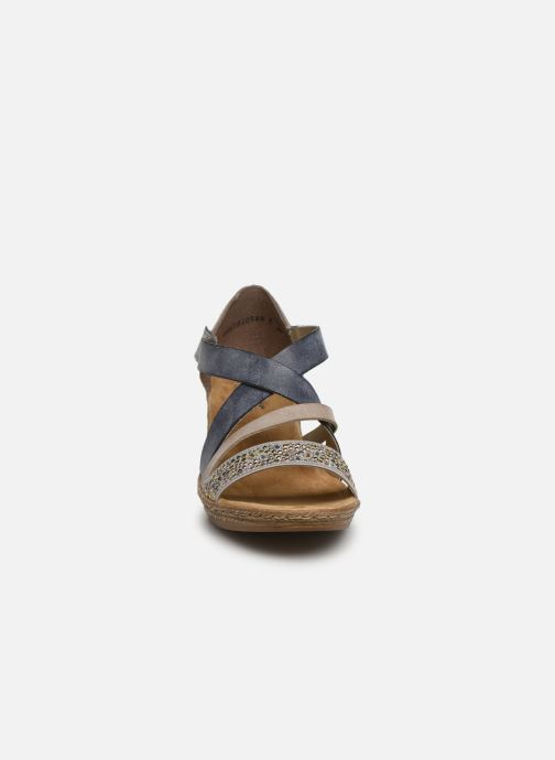 Sandalen Rieker Saria 62405 grau schuhe getragen